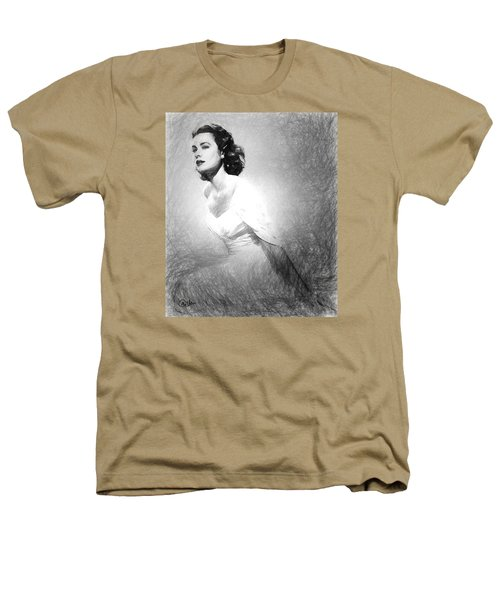 Grace Kelly Sketch Heathers T-Shirt by Quim Abella