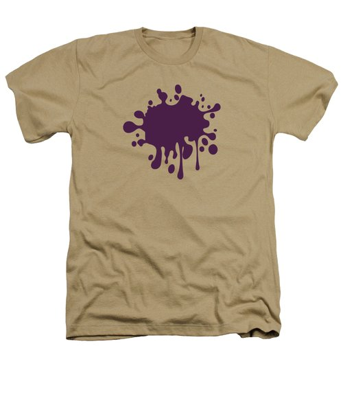 Grape Wine Solid Color Heathers T-Shirt by Garaga Designs