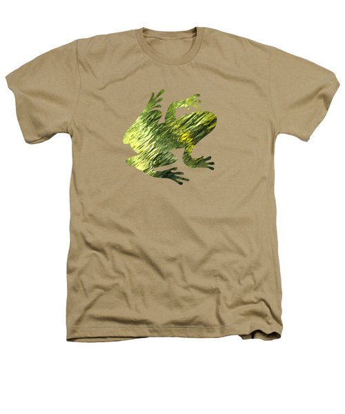 Green Abstract Water Reflection Heathers T-Shirt by Christina Rollo