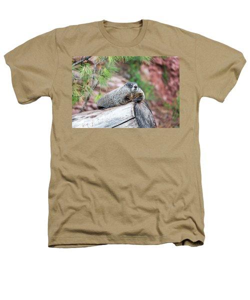 Groundhog On A Log Heathers T-Shirt by Jess Kraft