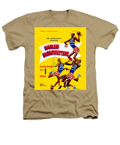 Harlem Globetrotters Vintage Program 32nd Season Heathers T-Shirt by Big 88 Artworks