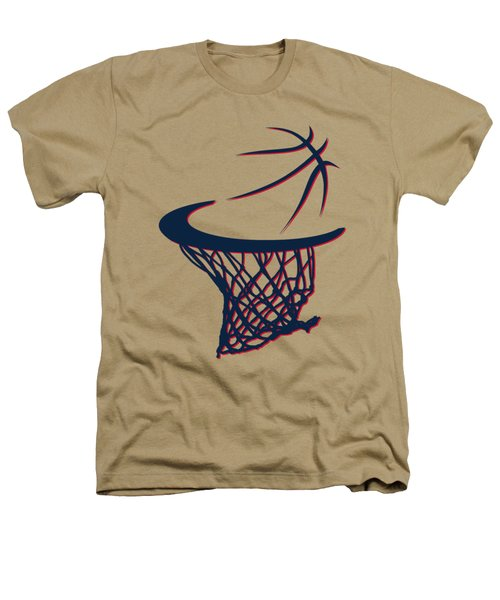 Hawks Basketball Hoop Heathers T-Shirt by Joe Hamilton