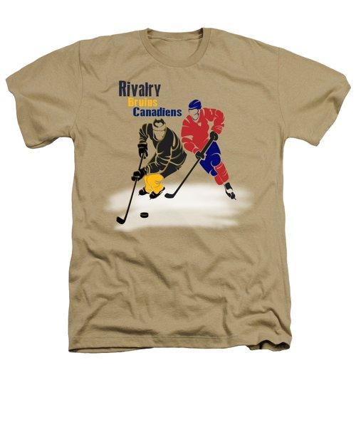 Hockey Rivalry Bruins Canadiens Shirt Heathers T-Shirt by Joe Hamilton