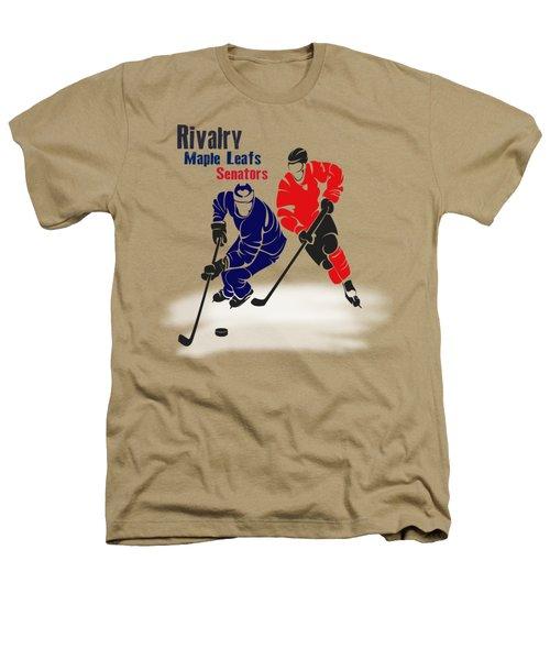 Hockey Rivalry Maple Leafs Senators Shirt Heathers T-Shirt by Joe Hamilton
