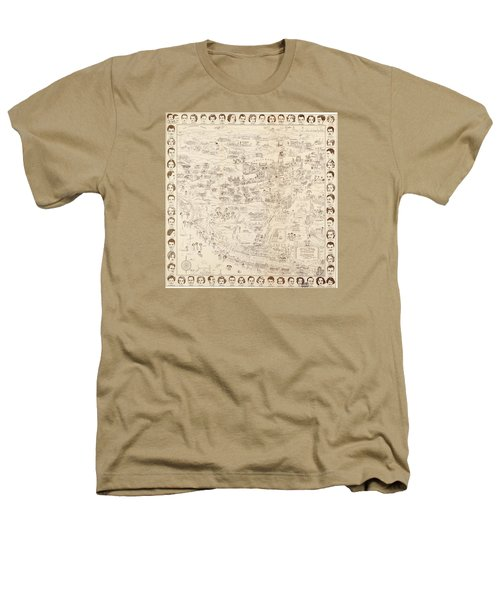 Hollywood Map To The Stars 1937 Heathers T-Shirt by Don Boggs