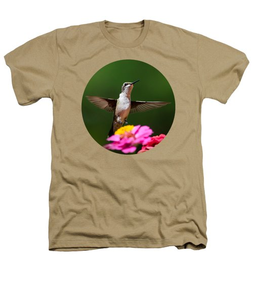 Hummingbird Heathers T-Shirt by Christina Rollo