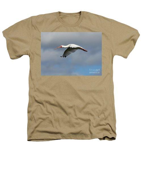 Ibis In Flight Heathers T-Shirt by Carol Groenen