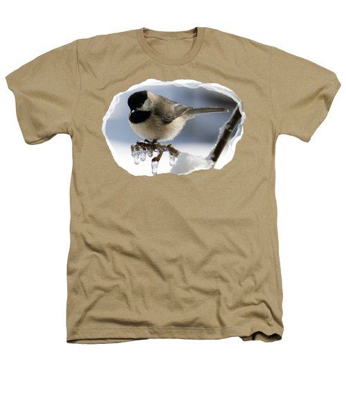 Icicle Perch Heathers T-Shirt by Karen Beasley