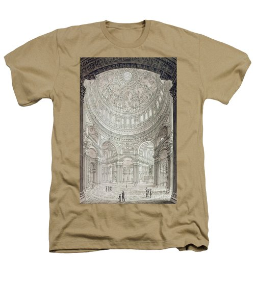 Interior Of Saint Pauls Cathedral Heathers T-Shirt by John Coney