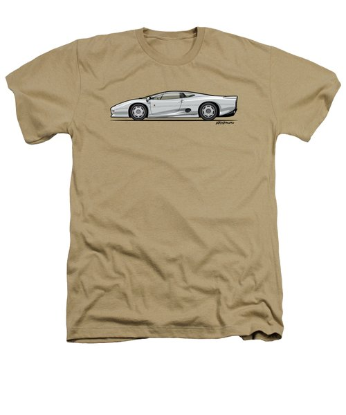 Jag Xj220 Spa Silver Heathers T-Shirt by Monkey Crisis On Mars