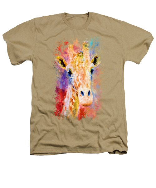 Jazzy Giraffe Colorful Animal Art By Jai Johnson Heathers T-Shirt by Jai Johnson