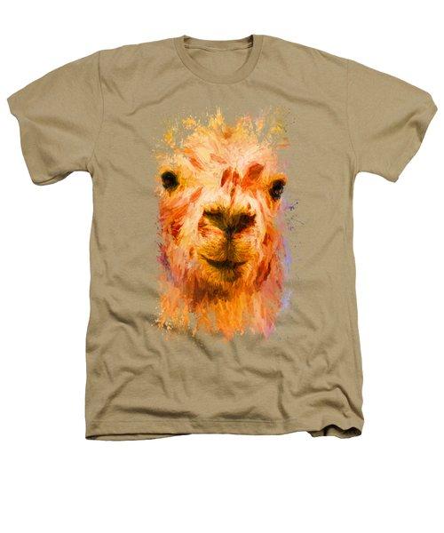 Jazzy Llama Colorful Animal Art By Jai Johnson Heathers T-Shirt by Jai Johnson