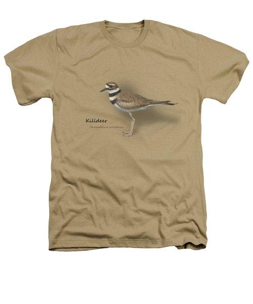 Killdeer - Charadrius Vociferus - Transparent Design Heathers T-Shirt by Mitch Spence