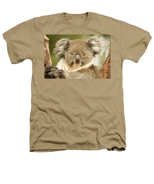 Koala Snack Heathers T-Shirt by Mike  Dawson