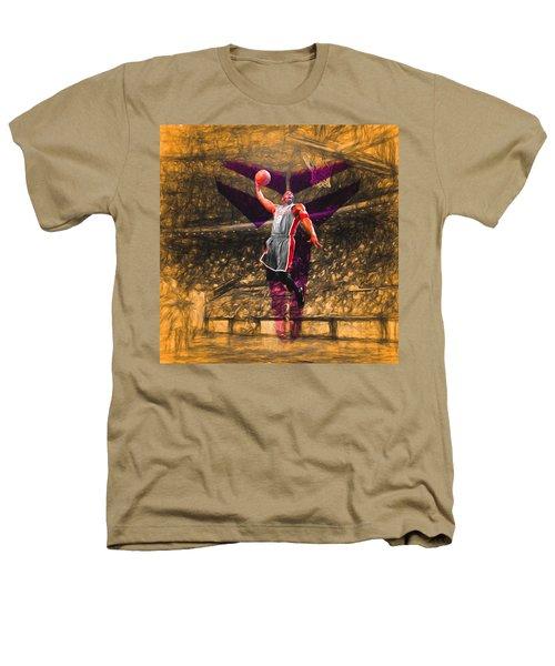 Kobe Bryant Black Mamba Digital Painting Heathers T-Shirt by David Haskett