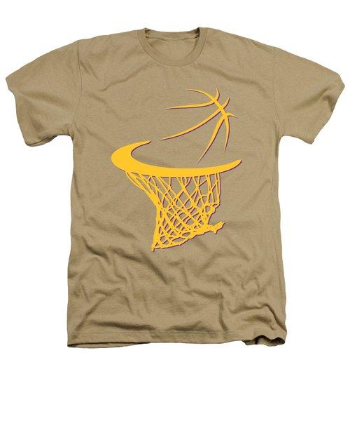 Lakers Basketball Hoop Heathers T-Shirt by Joe Hamilton