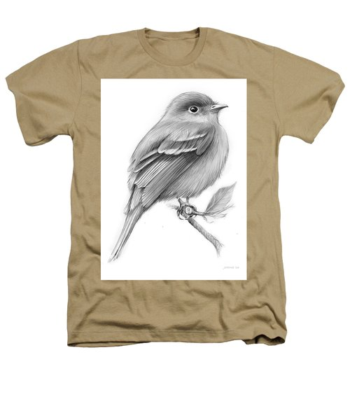 Least Flycatcher Heathers T-Shirt by Greg Joens
