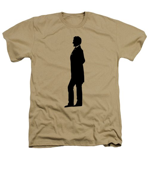 Lincoln Silhouette And Signature Heathers T-Shirt by War Is Hell Store