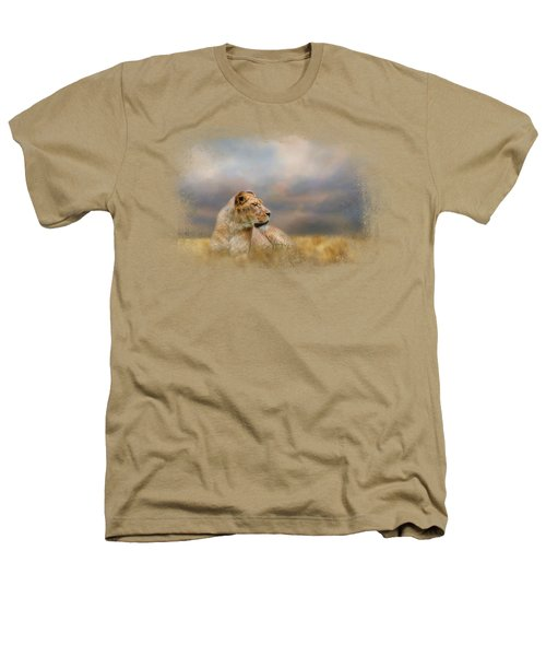 Lioness After The Storm Heathers T-Shirt by Jai Johnson