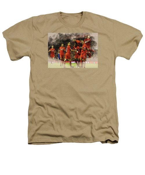 Liverpool V Leicester City Heathers T-Shirt by Don Kuing