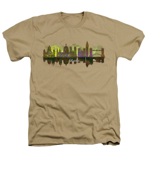 London England Skyline In Golden Light Heathers T-Shirt by John Groves