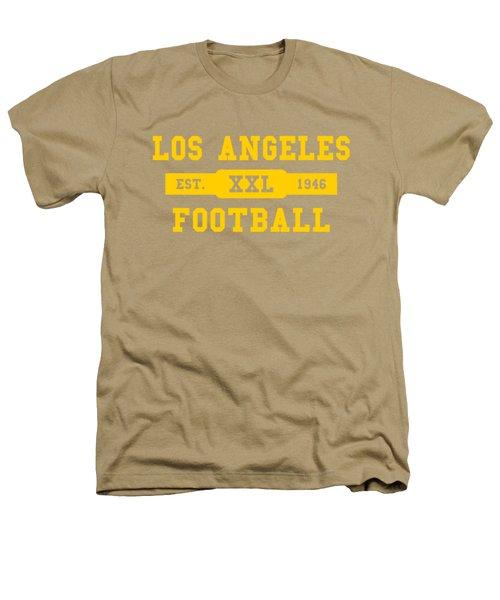 Los Angeles Rams Retro Shirt Heathers T-Shirt by Joe Hamilton