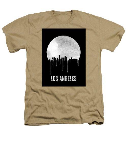 Los Angeles Skyline Black Heathers T-Shirt by Naxart Studio