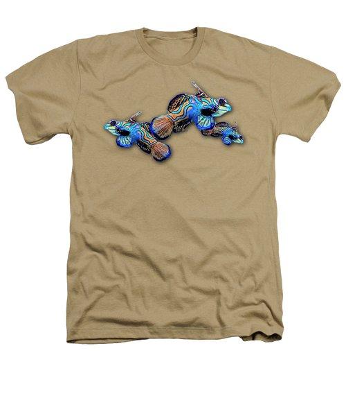 Mandarin Gobies Heathers T-Shirt by Russ Harris