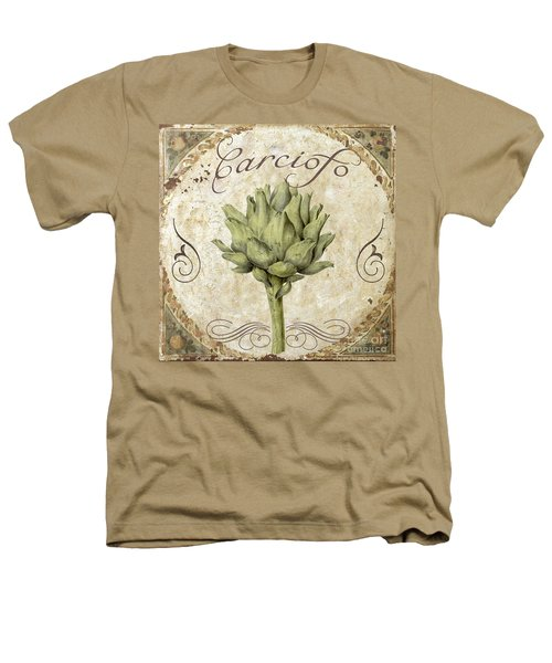 Mangia Carciofo Artichoke Heathers T-Shirt by Mindy Sommers