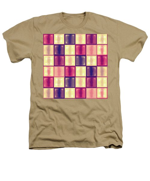 Marsala Ceramic Tiles - Square Heathers T-Shirt by Shelly Weingart