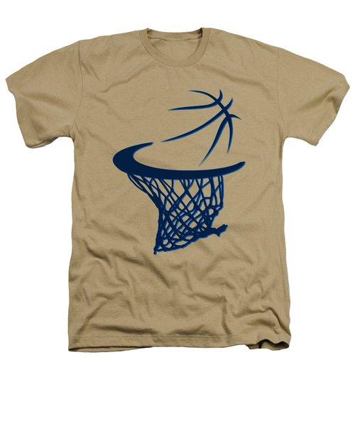 Mavericks Basketball Hoops Heathers T-Shirt by Joe Hamilton