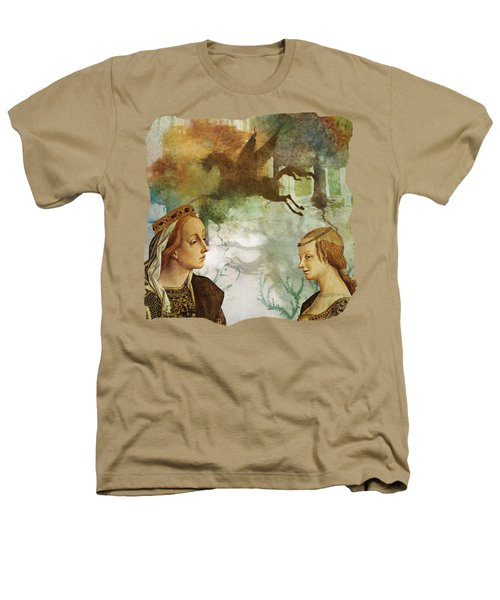 Medieval Dreams Heathers T-Shirt by Terry Fleckney