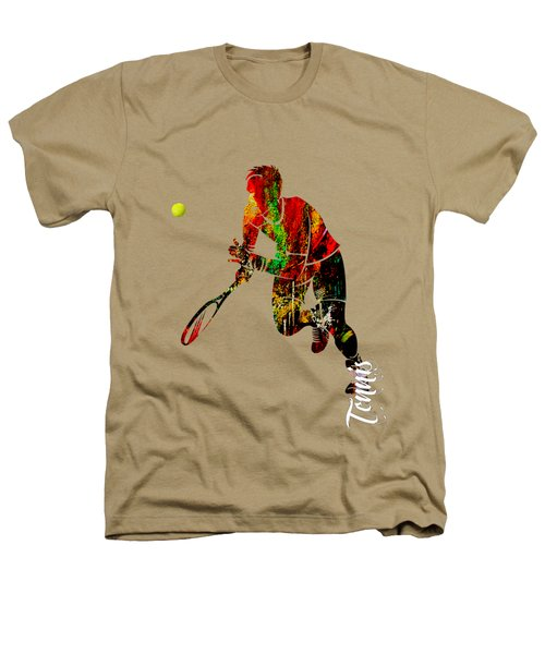 Mens Tennis Collection Heathers T-Shirt by Marvin Blaine