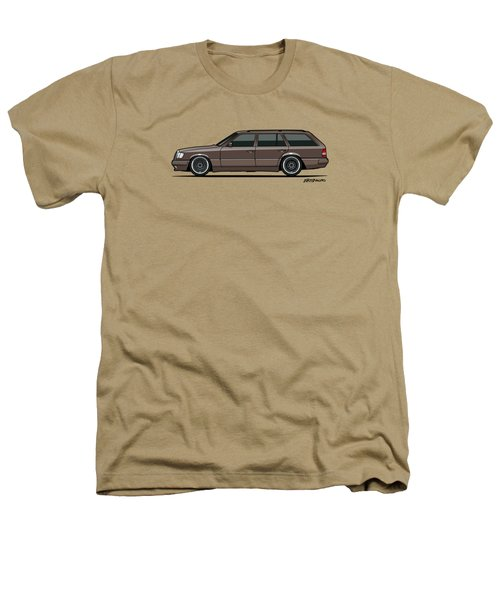 Mercedes Benz W124 E-class 300te Wagon - Anthracite Grey Heathers T-Shirt by Monkey Crisis On Mars