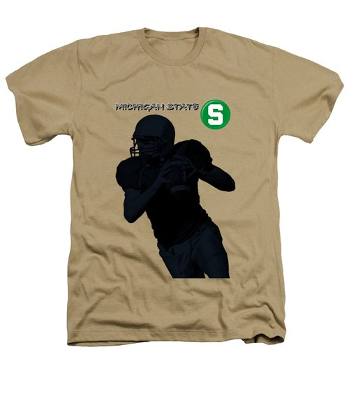 Michigan State Football Heathers T-Shirt by David Dehner