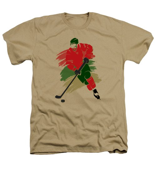 Minnesota Wild Player Shirt Heathers T-Shirt by Joe Hamilton