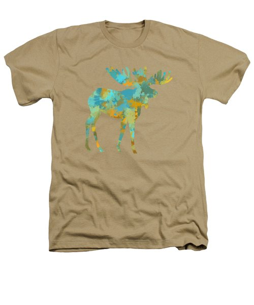 Moose Watercolor Art Heathers T-Shirt by Christina Rollo