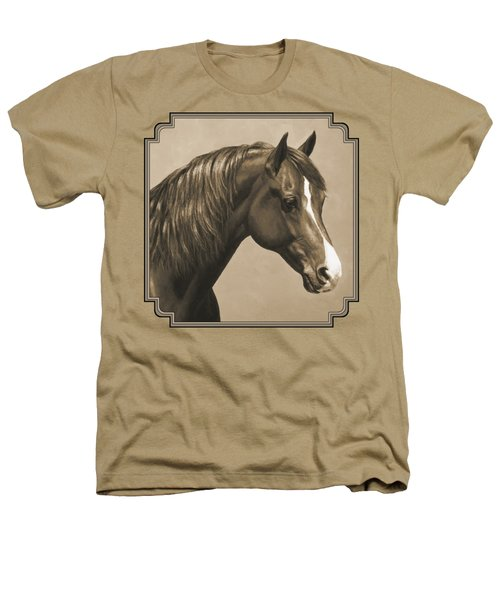 Morgan Horse Painting In Sepia Heathers T-Shirt by Crista Forest