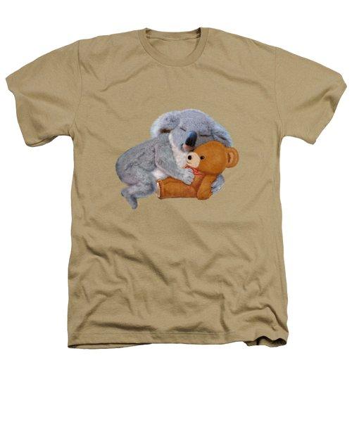 Naptime With Teddy Bear Heathers T-Shirt by Glenn Holbrook