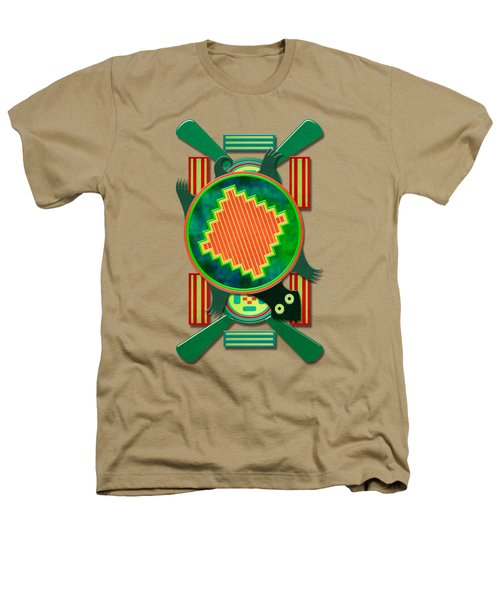 Native American 3d Turtle Motif Heathers T-Shirt by Sharon and Renee Lozen