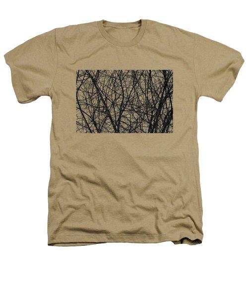 Natural Trees Map Heathers T-Shirt by Konstantin Sevostyanov