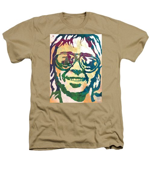 Neil Young Pop Stylised Art Poster Heathers T-Shirt by Kim Wang