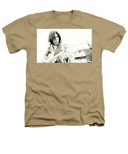 Neil Young Watercolor Heathers T-Shirt by John Malone