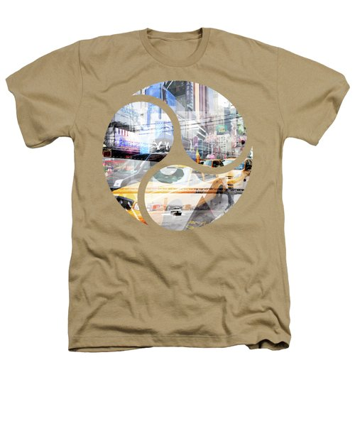 New York City Geometric Mix No. 9 Heathers T-Shirt by Melanie Viola