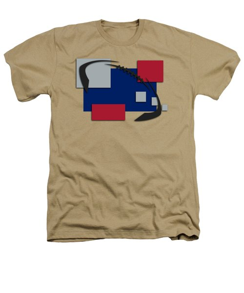 New York Giants Abstract Shirt Heathers T-Shirt by Joe Hamilton