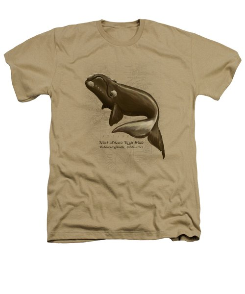 North Atlantic Right Whale Heathers T-Shirt by Amber Marine