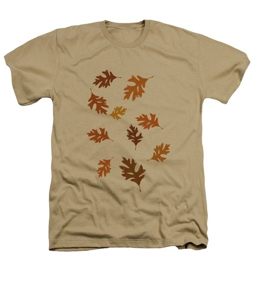 Oak Leaves Art Heathers T-Shirt by Christina Rollo