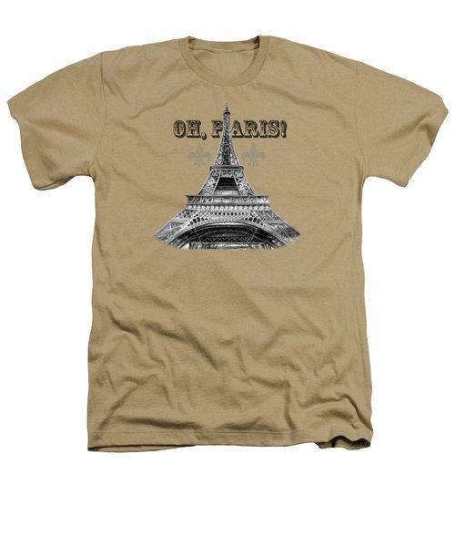 Oh Paris Eiffel Tower Heathers T-Shirt by Irina Sztukowski