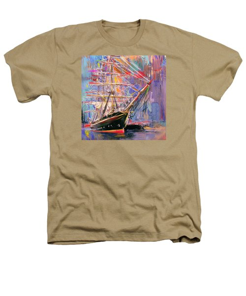 Old Ship 226 4 Heathers T-Shirt by Mawra Tahreem
