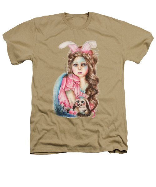 Only Friend In The World - Bunny Heathers T-Shirt by Sheena Pike